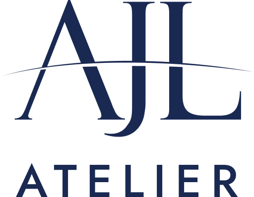 AJL Atelier logo main - blue logo on white background